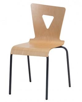 Chaise cantine coque hêtre multiplis - Devis sur Techni-Contact.com - 1
