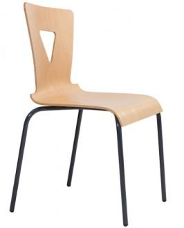 Chaise cantine coque hêtre multiplis - Devis sur Techni-Contact.com - 2