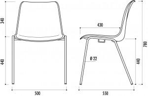 Chaise coque polypropylène - Devis sur Techni-Contact.com - 3