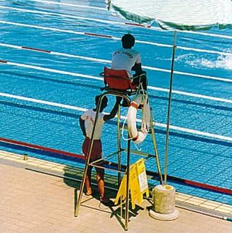 Chaise de surveillance piscine tubulaire - Devis sur Techni-Contact.com - 1