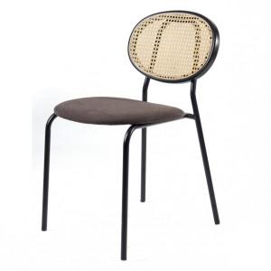 Chaise en acier et rotin naturel - Devis sur Techni-Contact.com - 2