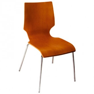 Chaise en bois avec piètement acier - Devis sur Techni-Contact.com - 1