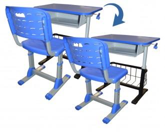 Chaise et bureau scolaire multimédia - Devis sur Techni-Contact.com - 1