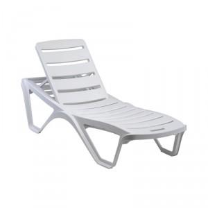 Chaise longue plastique à dossier inclinable CAPRICCIO - Devis sur Techni-Contact.com - 2