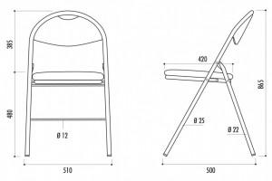 Chaise pliante en tissu anti-feu - Devis sur Techni-Contact.com - 2