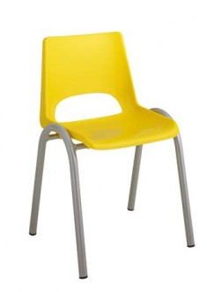 Chaise scolaire à coque plastique 4 pieds - Devis sur Techni-Contact.com - 1