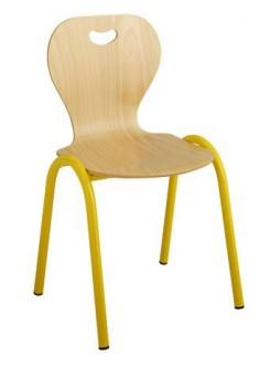 Chaise scolaire avec piétement en acier T1 à T4 - Devis sur Techni-Contact.com - 1