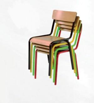 Chaise scolaire en hêtre empilable - Devis sur Techni-Contact.com - 2