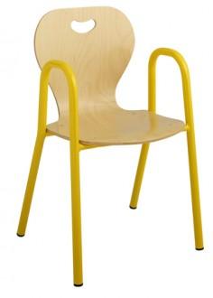 Chaise scolaire maternelle coque bois - Devis sur Techni-Contact.com - 1
