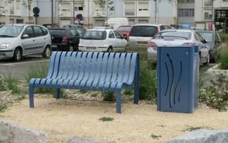 Chaise urbaine à lattes acier mécanosoudé - Devis sur Techni-Contact.com - 2