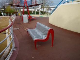 Chaise urbaine à lattes acier mécanosoudé - Devis sur Techni-Contact.com - 3