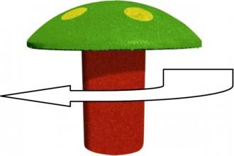 Champignon ludique caoutchouc rotatif - Devis sur Techni-Contact.com - 1