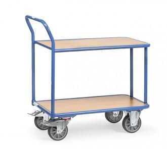 Chariot à 2 plateaux en mélaminé 400 Kg - Devis sur Techni-Contact.com - 1