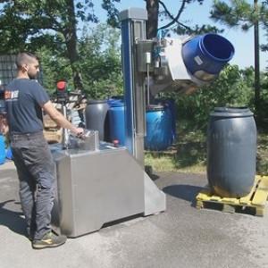 Chariot à timon avec basculeur de fûts latéral - Devis sur Techni-Contact.com - 3