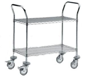Chariot aluminium à clayette - Devis sur Techni-Contact.com - 1