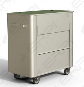 Chariot aluminium à déchets - Devis sur Techni-Contact.com - 4