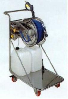 Chariot avec enrouleur inox304 agroalimentaire - Devis sur Techni-Contact.com - 1