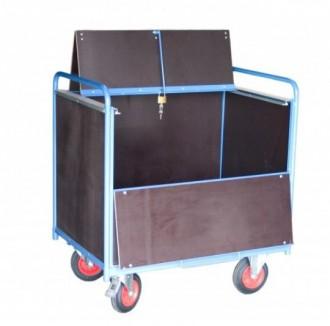 Chariot conteneur en acier mécano soudé - Devis sur Techni-Contact.com - 2