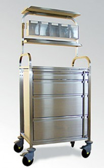 Chariot d'anesthésie avec portique supérieur - Devis sur Techni-Contact.com - 1