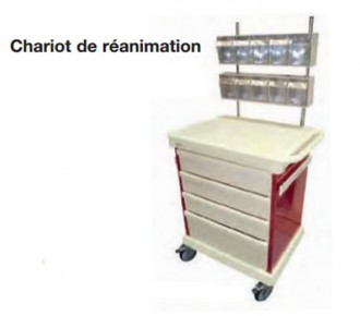 Chariot d'anesthésie et de réanimation - Devis sur Techni-Contact.com - 2