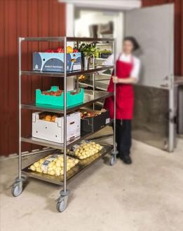 Chariot de cuisine inox soudé 5 étagères - Devis sur Techni-Contact.com - 2