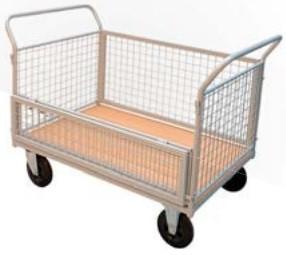 Chariot grillagé demi porte rabattable - Devis sur Techni-Contact.com - 1