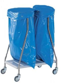 Chariot inox collecteur à déchets - Devis sur Techni-Contact.com - 1