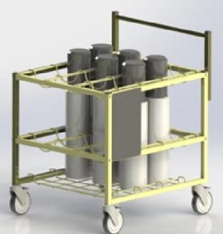Chariot médical transport bouteilles d'oxygéne - Devis sur Techni-Contact.com - 2