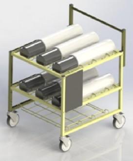 Chariot médical transport bouteilles d'oxygéne - Devis sur Techni-Contact.com - 4