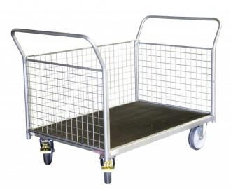 Chariot modulaire à ridelle grillagé - Devis sur Techni-Contact.com - 1