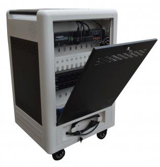 Chariot multimédia 16 tablettes ou PC portables - Devis sur Techni-Contact.com - 4