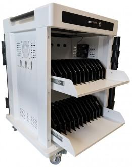 Chariot multimédia pour 24 tablettes et pc portables - Devis sur Techni-Contact.com - 1