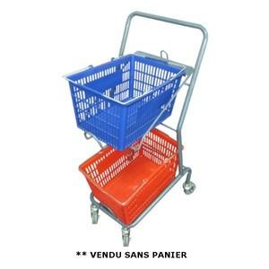 Chariot porte panier 50 kg - Devis sur Techni-Contact.com - 1