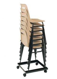 Chariot pour des chaises empilables - Devis sur Techni-Contact.com - 1