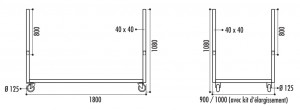 Chariot transport tables rectangulaires - Devis sur Techni-Contact.com - 3