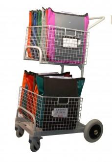 Chariots de distribution 2 corbeilles manutention légère - Devis sur Techni-Contact.com - 2