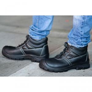 Chaussure cuir noire haute de protection - Devis sur Techni-Contact.com - 4