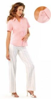 Chemise femme manches courtes personnalisable - Devis sur Techni-Contact.com - 1
