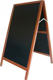 Chevalet de trottoir 2 faces cadre bois exotique - Devis sur Techni-Contact.com - 1