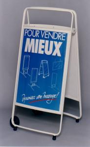 Chevalet de trottoir à roulettes - Devis sur Techni-Contact.com - 1