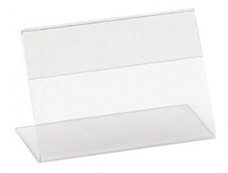 Chevalet horizontal transparent pour étiquettes - Devis sur Techni-Contact.com - 1