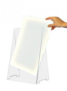 Chevalet porte étiquette plexi - Devis sur Techni-Contact.com - 1