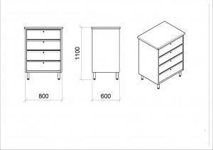 Chiffonnier d'atelier 4 tiroirs mobile - Devis sur Techni-Contact.com - 2