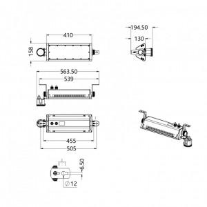 Cloche Linéaire LED 100W IP65 150lm/W - Devis sur Techni-Contact.com - 6