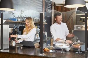 Cloison de protection comptoir restaurant - Devis sur Techni-Contact.com - 2