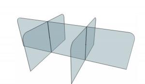 Cloison de protection de table selon OPPBTP - Devis sur Techni-Contact.com - 1