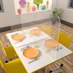 Cloison de protection pour table de cantine - Devis sur Techni-Contact.com - 2