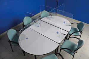 Cloison de protection pour table de cantine - Devis sur Techni-Contact.com - 3