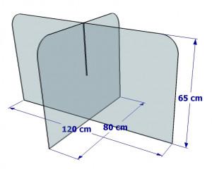 Cloison de protection pour table de cantine - Devis sur Techni-Contact.com - 4