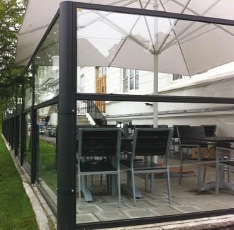 Cloison de terrasse télescopique - Devis sur Techni-Contact.com - 1